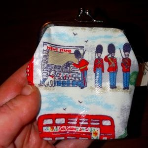 Cath Kidston Kids coin purse British scenery NWT